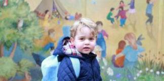 O πρίγκιπας Τζωρτζ την πρώτη μέρα στον παιδικό σταθμό