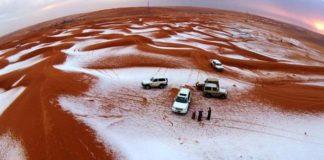 Συνέβη κι αυτό: Χιόνισε στη Σαουδική Αραβία