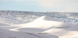 Η έρημος Σαχάρα καλύφθηκε από χιόνι